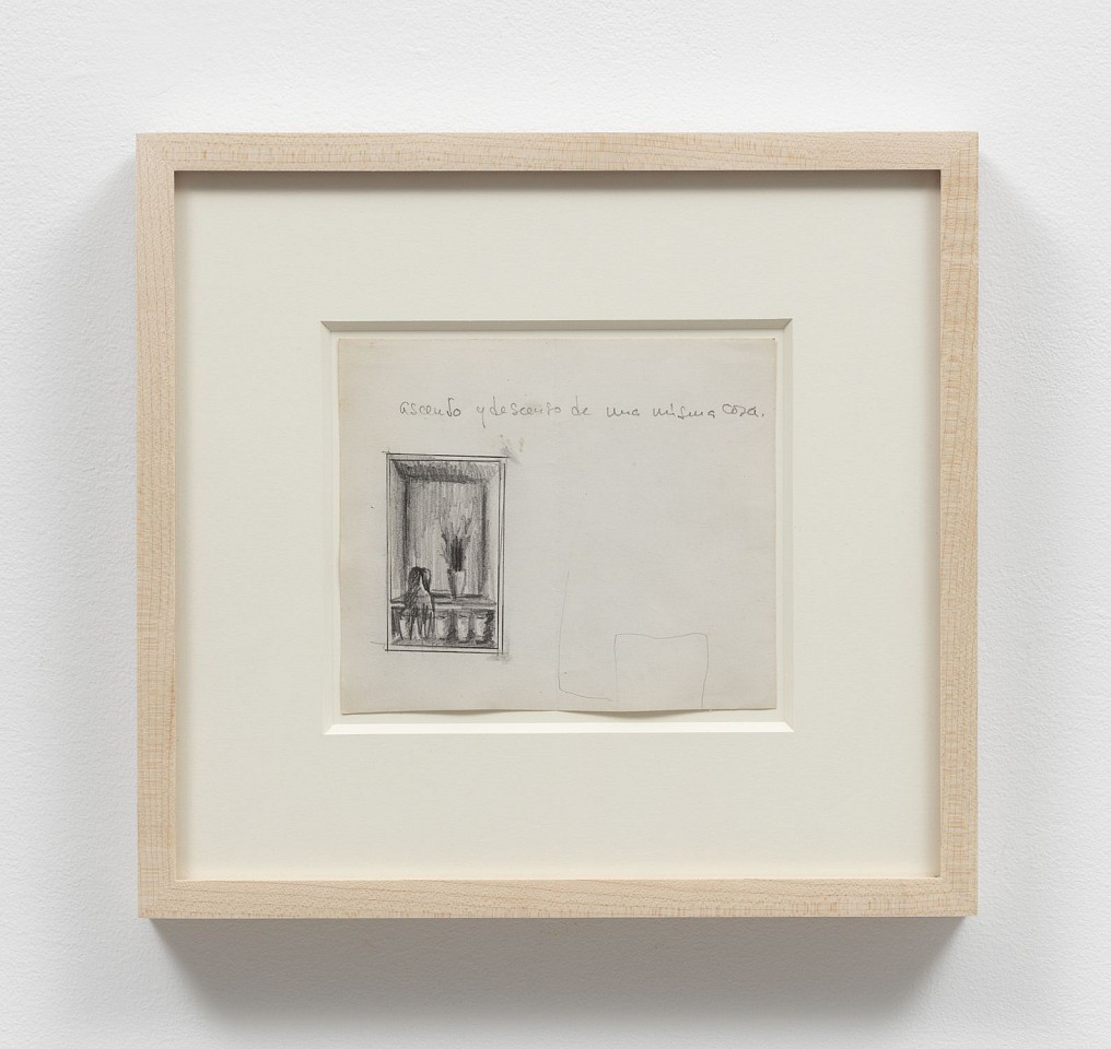 Victor Grippo ,   Sin Título  ,  ca. 1965     pencil on paper     5 x 5 3/4 in/12.5 x 14.5 cm     VG-65-DR-034