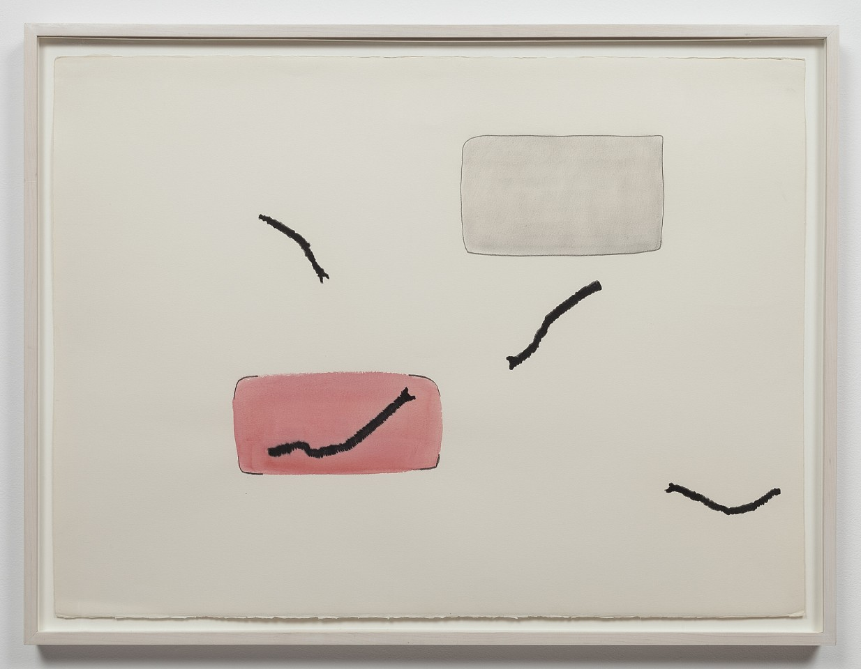 Ree Morton ,   Line Series  ,  1974     watercolor, pencil and charcoal on paper     22¼ x 30 in/56.5 x 76 cm     REM-74-DR-073/R