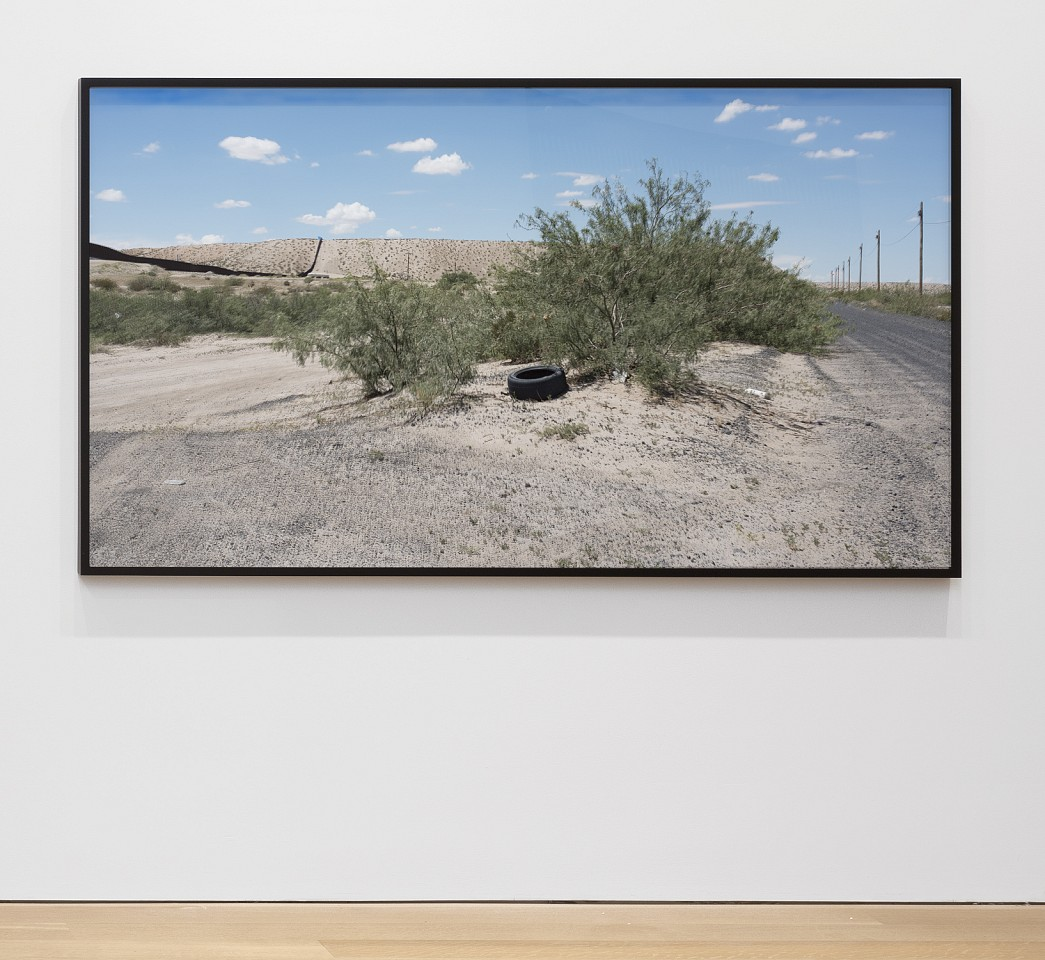 Willie Doherty ,   At The Border, Fixed Limit (Cast No Shadow, Leave No Trace) Anapra Road, New Mexico  ,  2017     framed pigment print mounted on dibond     41 1/2 x 73 in/105.4 x 185.4 cm     WID-17-PH-296