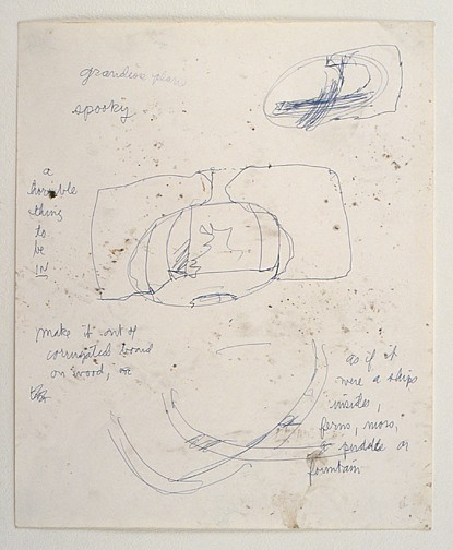 Paul Thek ,   Untitled (Grandiose Plans)  ,  ca. 1986     ink on paper     17 x 14 in/43 x 35.5 cm     PAT-86-DR-241
