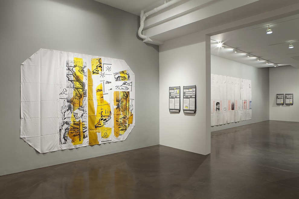 Eugenio Dittborn: Airmail Paintings 1989 – 2011 - Installation View