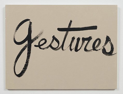 Ree Morton ,   Gestures (Signs of Love)  ,  1976     oil on plywood     13½ x 18 in./33 x 43 cm     REM-76-PA-019