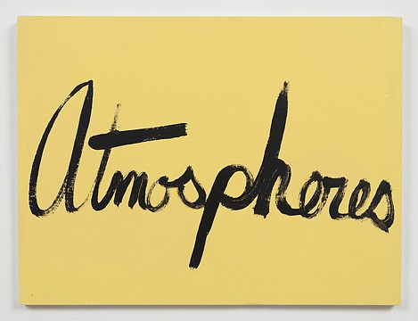 Ree Morton ,   Atmospheres (Signs of Love)  ,  1976     oil on plywood     13½ x 18 in./33 x 43 cm     REM-76-PA-032