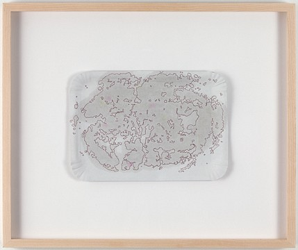 Mona Hatoum ,   Clouds (21)  ,  2008     oil and ink on cardboard     6 1/2 x 9 1/4 in/ 16.5 x 23.5 cm     MOH-08-DR-115