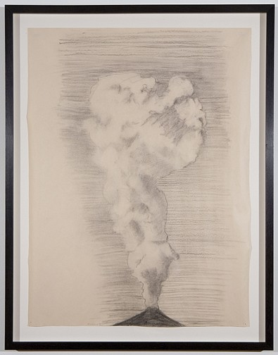 Jennifer Bolande ,   Smoke drawing  ,  2007     charcoal on paper     24 x 18 in/ 61 x 45.7 cm     JB-07-DR-020