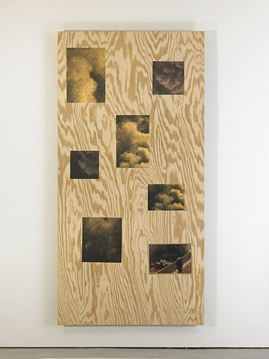 Jennifer Bolande ,   Smoke Screen #4  ,  2007     archival inkjet prints mounted on plywood     96 x 48 x 2 3/4 in/ 244 x 122 x 7 cm     JB-07-SC-029