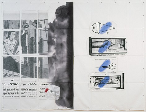 Eugenio Dittborn ,   The Chinese Worker's Right Arm III 