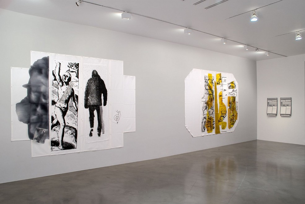 Eugenio Dittborn: Enteras Partes de Now and Then - Installation View
