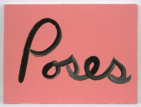 Ree Morton ,   Poses (Signs of Love)  ,  1976     oil on plywood     13½ x 18 in/33 x 43 cm     REM-76-PA-020