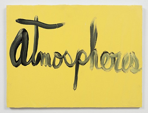 Ree Morton ,   Atmospheres (Signs of Love)  ,  1976     oil on plywood     13½ x 18 in./33 x 43 cm     REM-76-PA-033