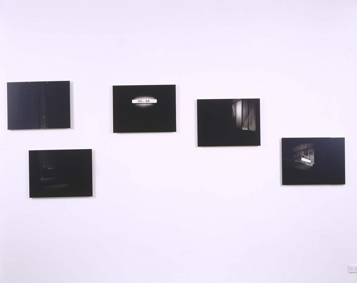 Willie Doherty ,   extracts from a file [B]  ,  2000     set of 5 black and white photographs     17 3/4 x 23 5/8 in/45 x 60 cm     WID-00-PH-074