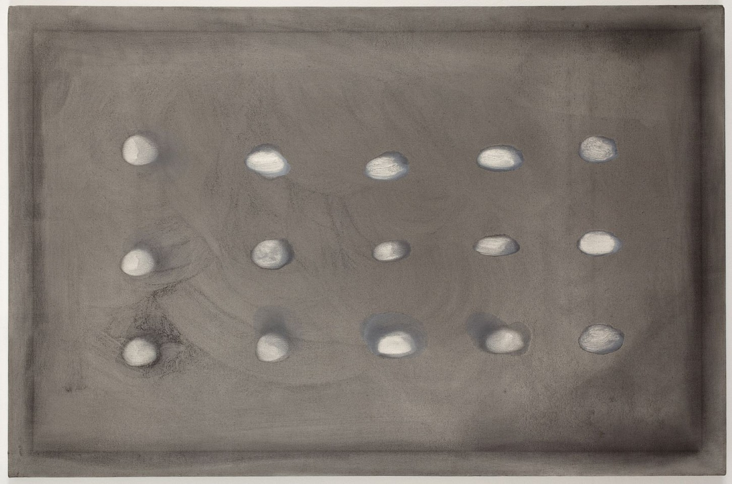 Ree Morton ,   Untitled  ,  circa 1970     graphite and oil on canvas     30 x 46 in./76 x 117 cm     REM-70-PA-038