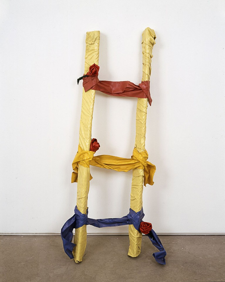 Ree Morton ,   Ladder (Signs of Love)  ,  1976     enamel on celastic     46 x 20 1/2 x 6 1/2 in./117 x 52 x 16.5 cm     REM-76-SC-019