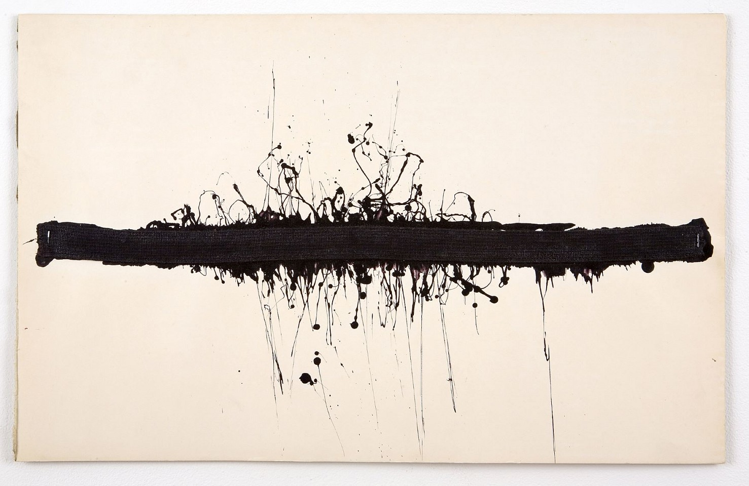 Ree Morton ,   Untitled (Black Horizontal)  ,  1968-1970     ink and collage on paper on board     14 x 22 in./35.6 x 55.9 cm     REM-70-DR-093